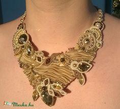 Elegancia nyakék shibori selyemmel, Ékszer, óra, Nyaklánc, Meska Shibori, Beads, Jewelry, Fashion, Elegance Fashion, O Beads, Jewellery Making, Moda, Jewels