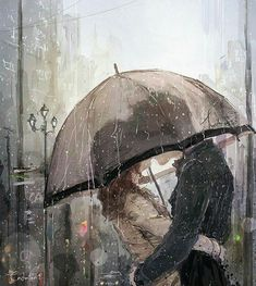 pareja...lluvia