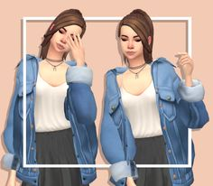 """pastel-simblr: """" Short skirts and oversized jackets CC under the cut x Keep reading """""""