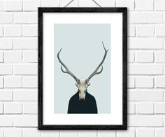 Stag PrintInstant DownloadPrintable Wall by InstantGalleryWall