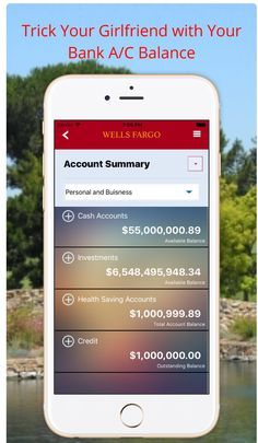 Prank your girlfriend with your bank account balance. Prank your girlfriend with your bank account balance. iPhone Screenshot 1 Where every fan can play Dream Bank, Wells Fargo Account, Bank Account Balance, Health Savings Account, Money Pictures, Bank Statement, Money Bank, Simple App, Checking Account