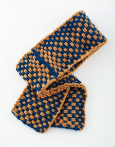 Two Color Loom Woven Scarf - Free Loom Pattern