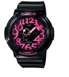 #Casio Baby G Shock Resist Digital Analog Womans Watch BGA-130-1B