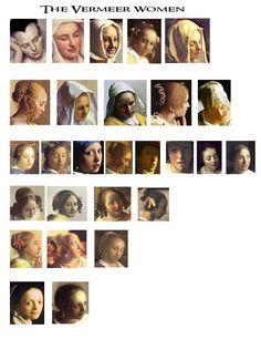 Women in the paintings of Vermeer