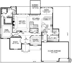 Bedroom Addition Ranch Home Plans Also Country European House Plans
