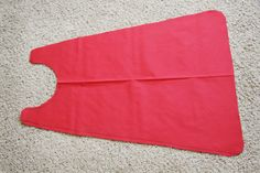 easy instructions to make a cape for kiddos