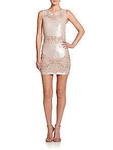 needle & thread - Beaded Sequin Sheath Dress