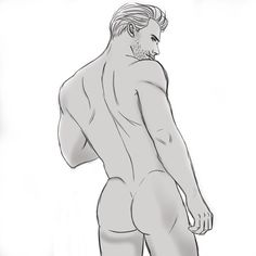 This is @sangosweetz's fault. She challenged me to draw male booty. And gave me more hot refs. Hehehe!