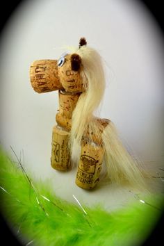 Horse Wine Cork Pony Ornament Gift Wild by DiVineWineCorks