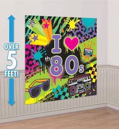 Totally 80s Scene Setter - Party City