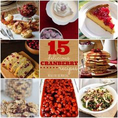 Food-a-licious Friday: 15 Delicious Cranberry Recipes - Mine for the Making