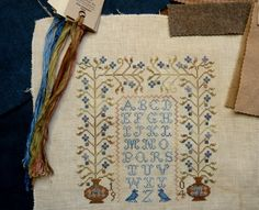 forget me not1 Blackbird Designs, Needlework, Burlap, Cross Stitch, Forget, Reusable Tote Bags, Sewing, Projects, Ideas