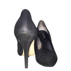 Banan Republic Mad Men Black High Heels Size 7 Versatile black high heels from the Banana Republic Mad Men collection designed for comfort featuring a classic pump silhouette, suede exterior and hidden platform. Banana Republic Shoes Heels