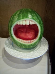 This is the coolest watermelon sculpture ever! We only wish we could create something this awesome. #SmartMouthFamilyDental #Smile http://smartmouthfamilydental.com/dentist-in-gainesville-tx