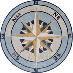Mosaic Medallion- Compass Rose