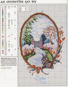Hobby lavori femminili - ricamo - uncinetto - maglia  Schemi LE 4 Stagioni Punto  Croce 1b672b95b60f