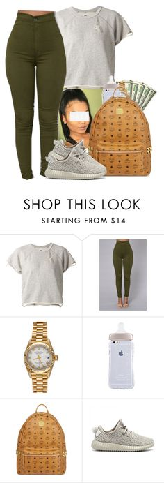 """""""Weston Road Flows    Drake"""" by heavensincere ❤ liked on Polyvore featuring NSF, Rolex, MCM and adidas Originals"""