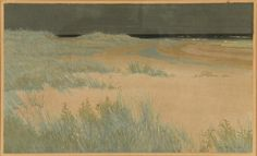 """Oscar Droege (1898-1982, American), woodcuts, """"Beach Grass"""", """"Surf"""" and another, (3) color woodblock prints, all pencil-signed, smaller: 8.75"""" x 13.75' (sight), larger: 12"""" x 21.5"""" (sight), matted and framed Provenance: The Doris Duke Charitable Foundation, purchased from the Randolph Collections, New York"""