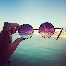 tumblr, sunglasses, summer, circle, beach, sea