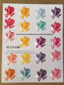 Lotus Blossom Color Options from Stampin' Up!