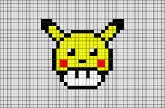 Pixel Art Pokemon Pikachu, Pokemon Perler Beads, Pixel Art Noel, Easy Pixel Art, Hama Beads, Perler Bead Art, Fuse Beads, Graph Paper Drawings, Graph Paper Art