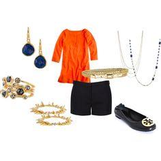 Orange & navy love the combination! http://www.stelladot.com/sites/jestaylor