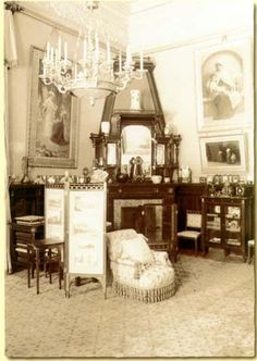 Alexander Palace; Palisander Drawing Room, When telephones appeared in the palace in the early 1900s, two were installed in this room: one to the outside and a special phone connected to the Army Headquarters when the Emperor stayed there.
