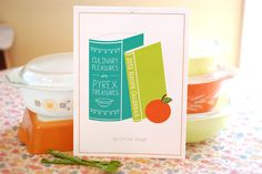 Pyrex recipe calendar by erinink at etsy. Adorable!