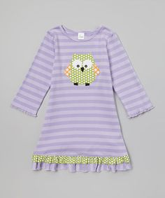 This Purple & Green Owl Drop-Waist Dress - Infant, Toddler & Girls by Beehave is perfect! #zulilyfinds