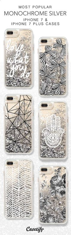 Phone Cases - Most Popular Monochrome Silver iPhone 7 Cases here > www.casetify.com/...