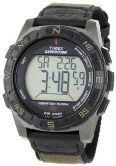 Timex Men's T49854 Expedition Rugged Digital Vibration Alarm Brown Nylon Strap Watch --- http://www.amazon.com/Timex-T49854-Expedition-Digital-Vibration/dp/B004GHRESY/?tag=shiningmoonpr-20