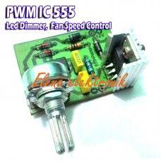 Kit PWM dengan IC 555 untuk pengatur kecepatan kipas atau led dimmer