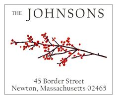 Just got this for my winter return address labels - love it! Winterberry
