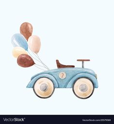 Illustration of Watercolor baby car vector illustration vector art, clipart and stock vectors. Baby Boy Poems, Baby Boy Cards, Watercolor Lotus, Watercolor Pattern, Baby Clip Art, Baby Art, Car Illustration, Watercolor Illustration, Colchas Quilting
