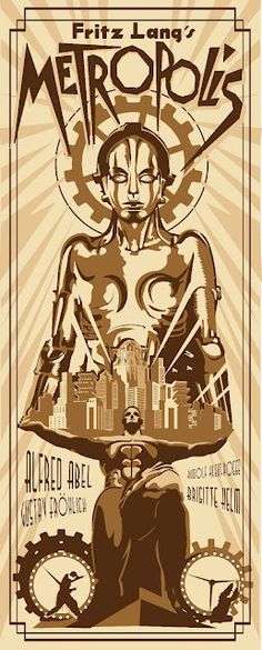 Cool Art: New Metropolis Posters by Rodolfo Reyes
