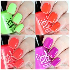 NEONS!! Girly Bits Hoop There It is Collage on Love For Lacquer