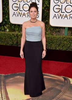 Maura Tierney attends the 73rd Annual Golden Globe Awards in Los Angeles on Jan. 10, 2016. - Jordan Strauss/Invision/AP