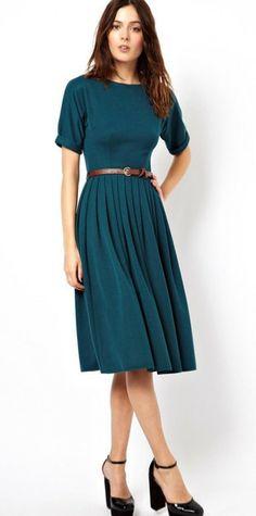 Pleated Midi Dress (5 Colors)
