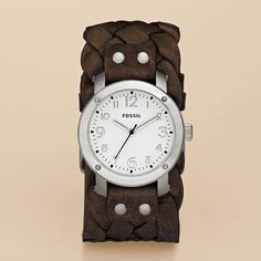 FOSSIL® Watch Styles Leather Watches:Watch Styles Imogene Leather Watch - Dark Brown JR1290