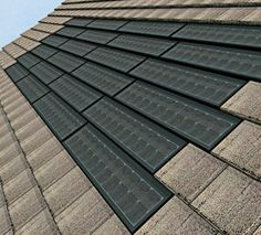 Partial Solar Roof Tile Installation http://www.homesolarpvpanels.com/solar-roofing-shingles.php