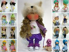 Dog Doll Winter Cloth Doll Fabric Doll Muñecas Rag Doll