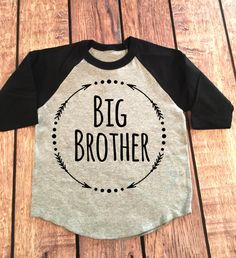 Big Brother 3/4 Sleeve Raglan Shirt Little Brother by SnowSew