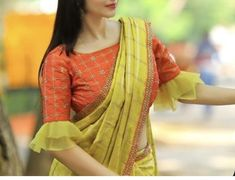 Simple elegant blouse with trendy style. Simple elegant blouse with trendy style.,indian clothes Simple elegant blouse with trendy style. Saree Jacket Designs, Sari Blouse Designs, Designer Blouse Patterns, Bridal Blouse Designs, Saree Blouse Patterns, Pattern Blouses For Sarees, Dress Patterns, Simple Blouse Designs, Stylish Blouse Design