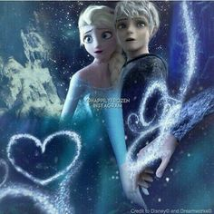 jack frost, queen elsa, and jack and elsa image