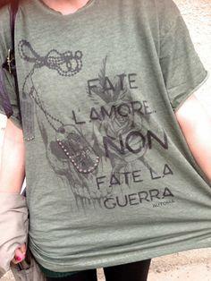 Make Love no War by Automa Style Amanda, Streetwear, Military, War, T Shirts For Women, Unisex, Love, Cool Stuff, Sweatshirts