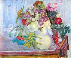Mauve Bouquet - Pierre Bonnard
