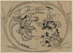 No play Kakitsubata by Hishikawa Moronobu