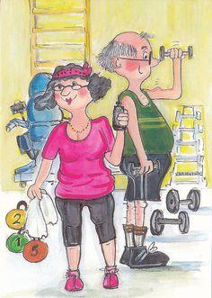 Salilla (In the gym) Illustr. Virpi Pekkala, Finland