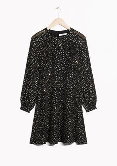 SHOP & Other Stories Sparkle Dress  in Black  Look super cute in this sparkle dress, perfect for dancing the night away!