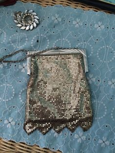 Whiting and Davis silver mesh purse with fringe by VintageRevivalDesign on Etsy https://www.etsy.com/listing/219025596/whiting-and-davis-silver-mesh-purse-with